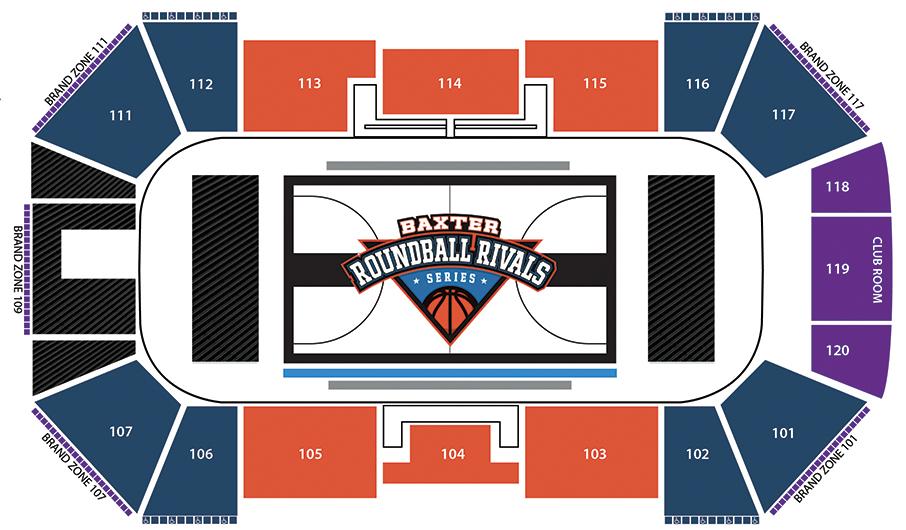 Baxter Roundball Rival Series Seating chart