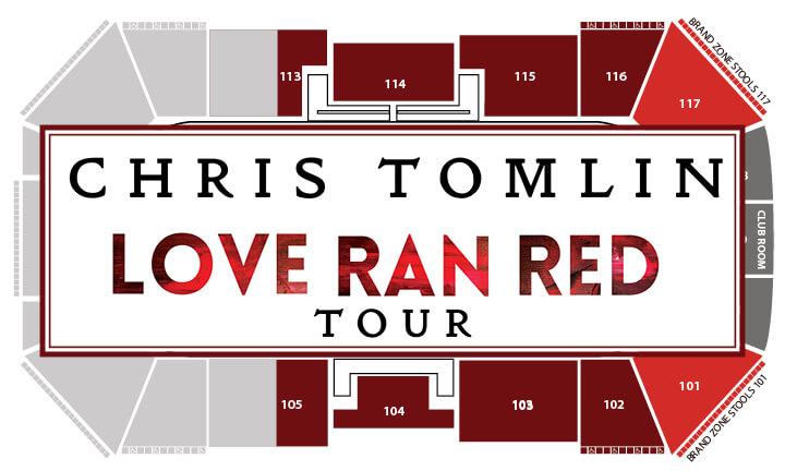 Chris Tomlin Seating chart
