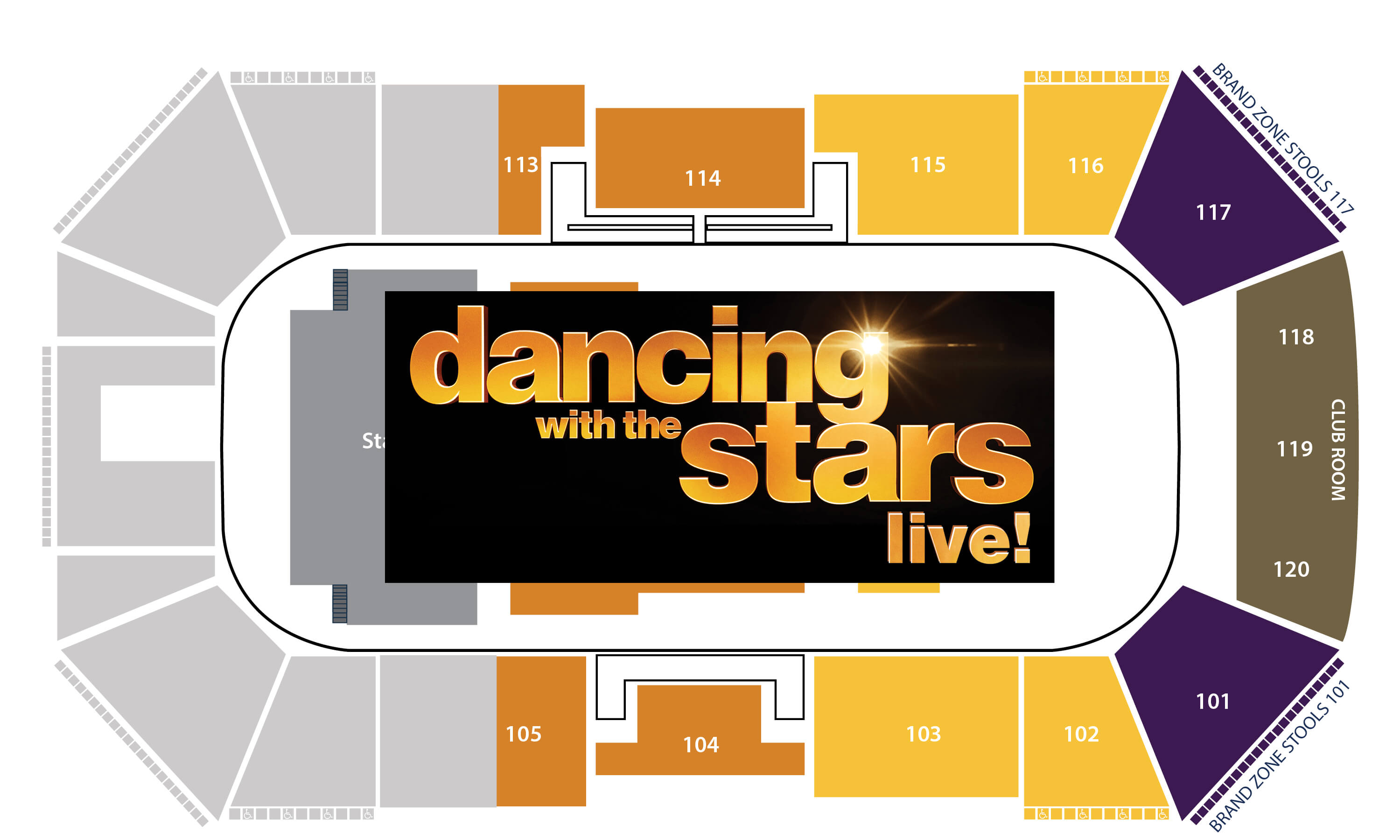Dancing with the Stars Seating chart