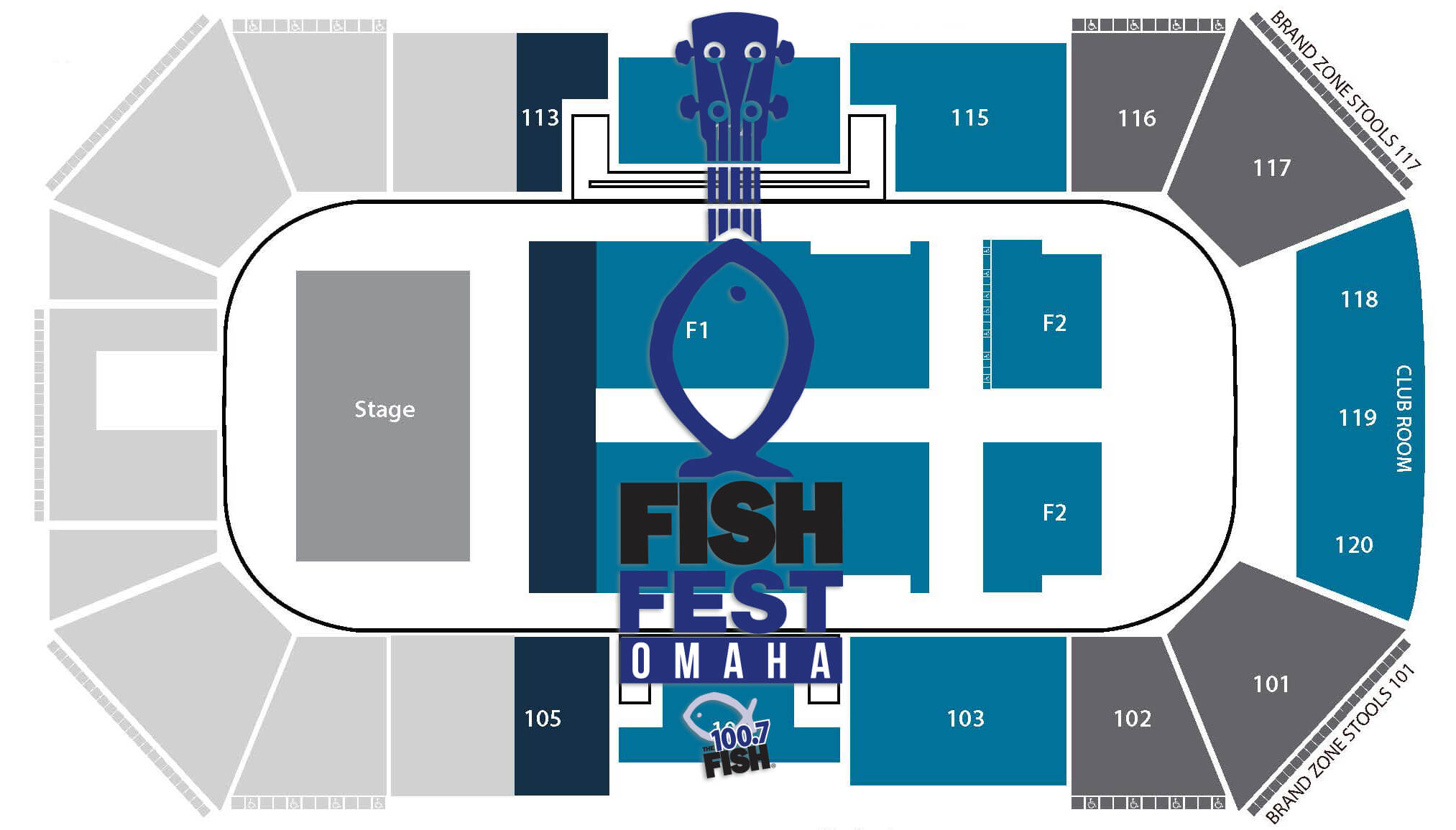 FishFest Omaha 2015 Seating chart