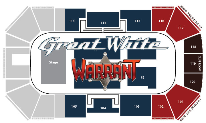 Great White & Warrant Seating chart