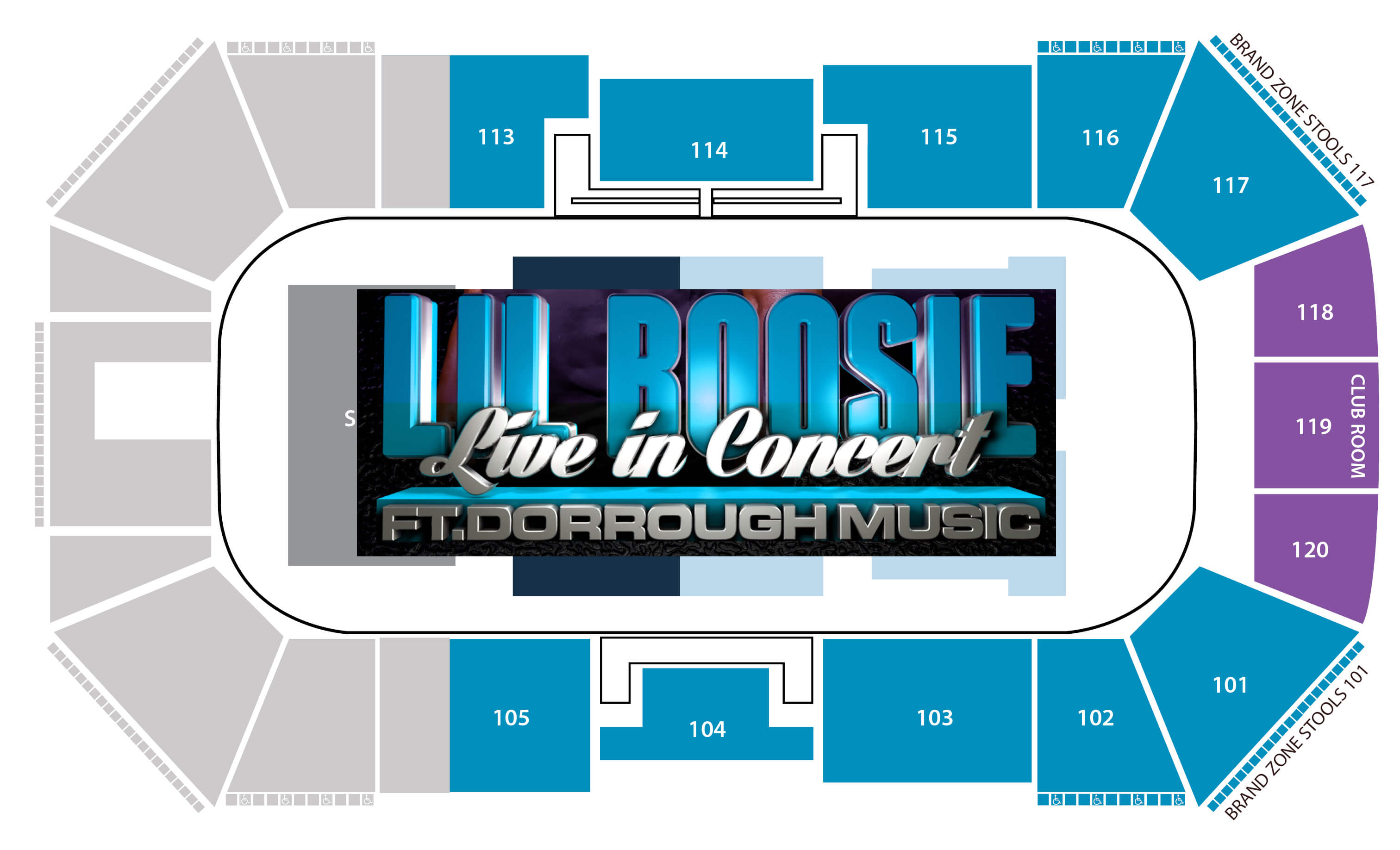 Lil Boosie Seating chart