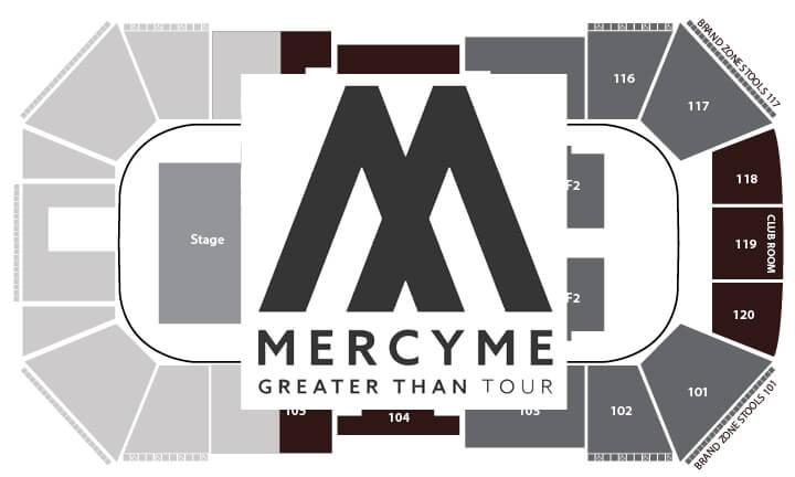 MercyMe Seating chart