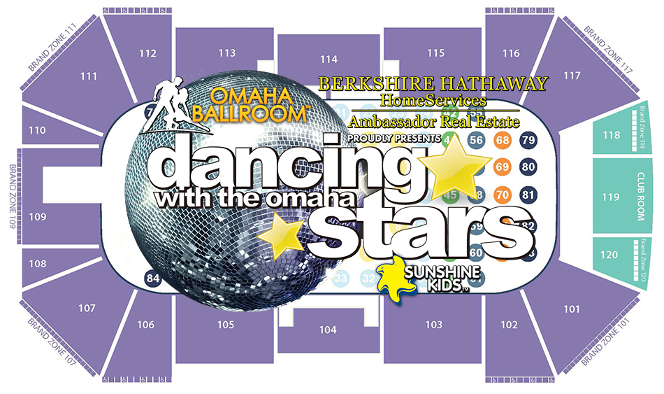 Dancing with the Omaha Stars Seating chart